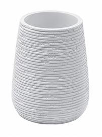 Stiklinė dantų šepetėliams Gedy Gemini GM9802, balta