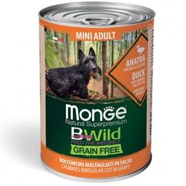 Влажный корм для собак Monge BWild Chunkies In Gravy Mini Adult Duck With Pumpkin And Zucchini, 0.4 кг