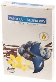 Aura Candles Tea Lights Vanilla/Blueberry 6pcs
