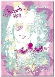 Herlitz Notebook A5/96 Fishbone Pink