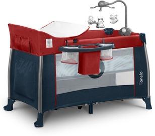 Детская кроватка Lionelo Thomi 2in1 Burgundy Red/Blue