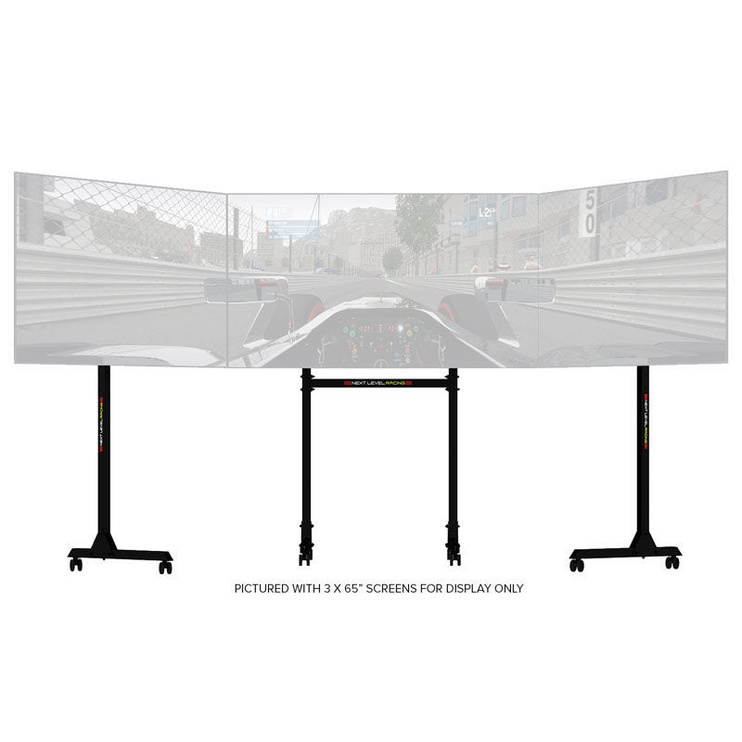 "Next Level Racing Free Standing Triple Monitor Stand 32""-65"" Black"