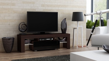 TV galds Pro Meble Milano 130 With Light Wenge/Black, 1300x350x450 mm