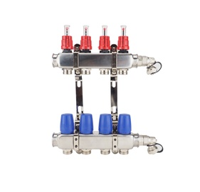 "U-Tube Systems Controlled Manifold w/ Flowmeter 1x3/4"" 4 Rings"