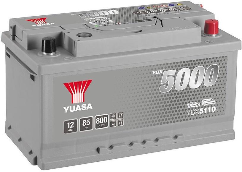 Аккумулятор Yuasa, 12 В, 85 Ач, 800 а