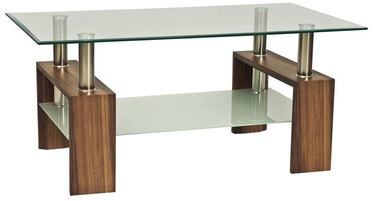 Kafijas galdiņš Signal Meble Modern Lisa II Walnut, 1100x600x550 mm