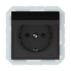 Kištukinis lizdas Vilma QR1000, įž, mat. juodos sp, IP44