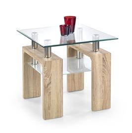 Kafijas galdiņš Halmar Diana H Kwadrat, ozola, 600x600x550 mm