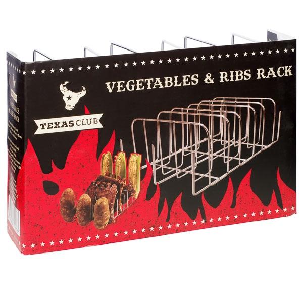 Citi grila piederumi Texas Club Vegetables & Rib Rack