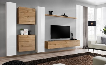 ASM Switch VI Wall Unit White/Wotan Oak