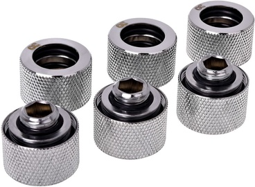 Alphacool HardTube Compression Fitting 16mm To G1/4 Chrome Pack Of 6