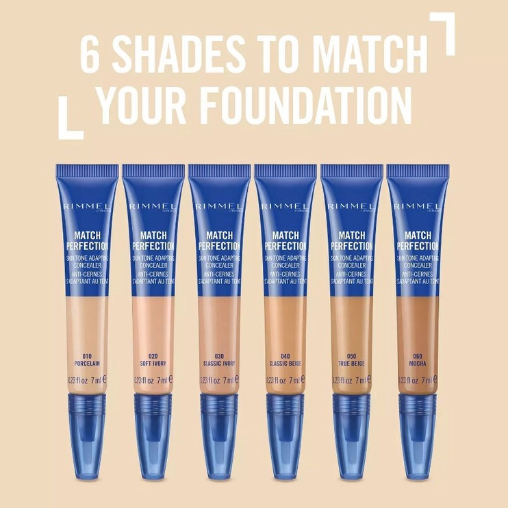 Rimmel London Match Perfection 2in1 Concealer & Highlighter 7ml 30