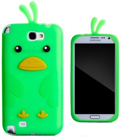 Zooky Soft 3D Cover Samsung N7100 Galaxy Note 2 Chicken Design Green