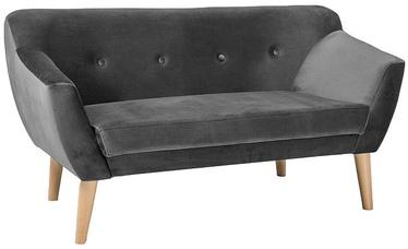 Dīvāns Signal Meble Bergen 2 Velvet Grey, 139 x 54 x 76 cm