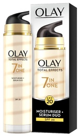 Veido serumas Olay Total Effects 7in1 Moisturiser + Serum Duo SPF20, 40 ml
