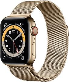 Išmanusis laikrodis Apple Watch Series 6 GPS LTE + Cellular, 40mm Stainless Steel Gold Milanese Loop, aukso