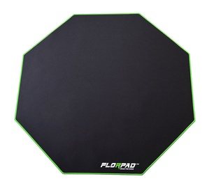 FlorPad Octagonal Floor Mat For Gamers Green Line