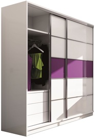 Stolar Dubaj Wardrobe White Purple