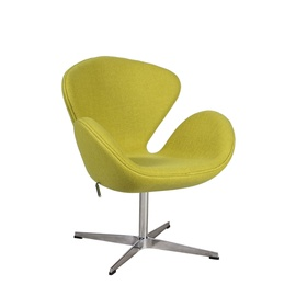 Home4you Swan Armchair Yellow