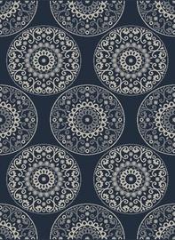 Ковер Domoletti Lineo LIN6497, синий/многоцветный, 190 см x 135 см