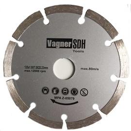 Dimanta griezējdisks ar segmentiem Vagner SDH, izmērs 125x1,9x22,23