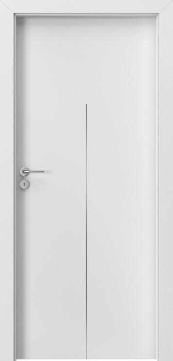 Полотно межкомнатной двери Porta line H1, белый, 203 см x 84.4 см x 4 см