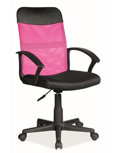 Biroja krēsls Signal Meble Q-702 Pink/Black