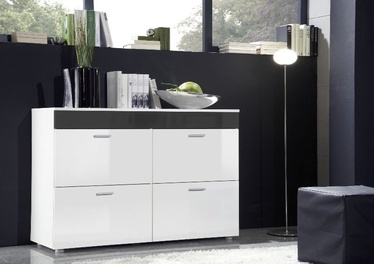 ASM Logo Chest Of Drawers White/Graphite