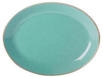 Porland Seasons Oval Plate 23.7x31cm Turquoise