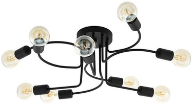 Eglo Orazio 97983 9x40W E27 Ceiling Lamp Melna (kahjustatud pakend)