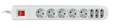 ActiveJet Surge Protector 8 Outlet Grey 3m
