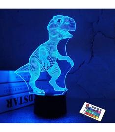 Öölamp 3D Dinosaur, valge