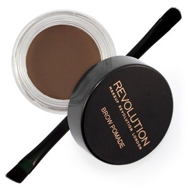 Makeup Revolution London Brow Pomade With Double Ended Brush 2.5g Dark Brown