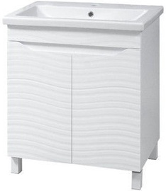 Sanservis Atlanta-60 Cabinet with Basin Como-60 White 56.5x80x43cm