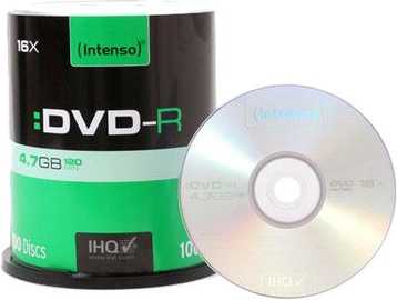 Intenso DVD-R 16x 4.7GB 100pcs. Cake Box 4101656