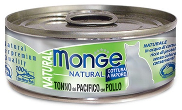 Monge Natural Yellowfin Tuna With Chicken 80g