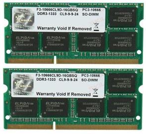 Operatīvā atmiņa (RAM) G.SKILL F3-10666CL9D-8GBSQ DDR3 8 GB