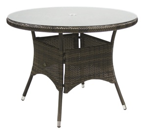 Home4you Wicker Table 100x71cm Dark Brown