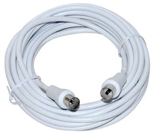 Vakoss Coaxial Cable RF / RF White 5 m
