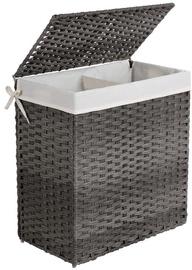 Ящик для белья Songmics Clothes Basket Grey/White 57x33x60cm