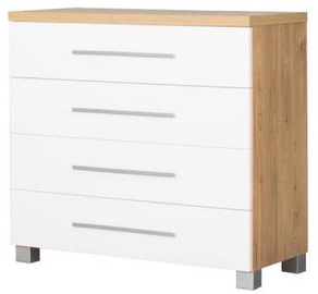 Bodzio Chest Of Drawers Panama PA11 White/Dark Sonoma Oak