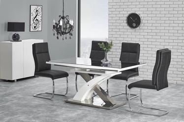 Pusdienu galds Halmar Sandor 2 Black White, 1600 - 2200x900x750 mm