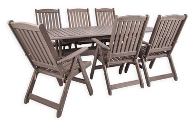 Folkland Timber Folding Garden Set Bavaria 6 Graphite