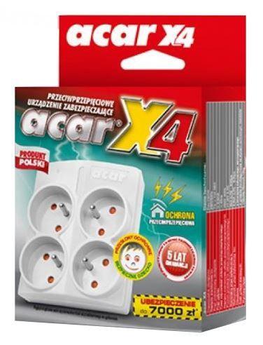 Acar Power Strip 4 Outlet White