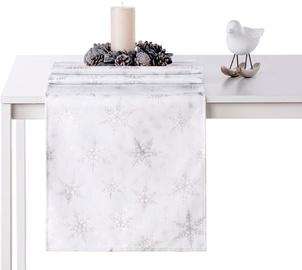 AmeliaHome White Christmas AH/HMD Tablecloth Silver 30x100cm