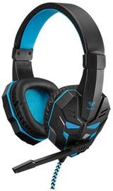 Ausinės Aula Prime Basic Gaming Headphones w/ Mic Black/Blue