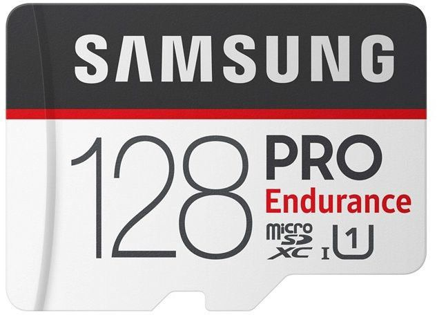 Samsung 128GB PRO Endurance microSD Card + Adapter