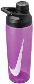 Бутылка для воды Nike Hypercharge, черный/фиолетовый, 0.7 л