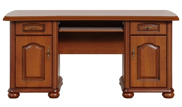 Black Red White Natalia Desk Cherry Wood