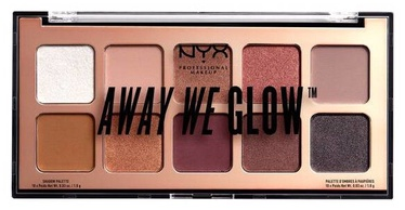 Acu ēnas NYX Away We Glow Shadow Palette Lovebeam, 10x1 g